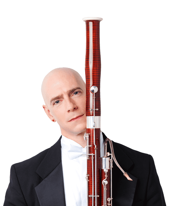 Chad Cognata with his bassoon